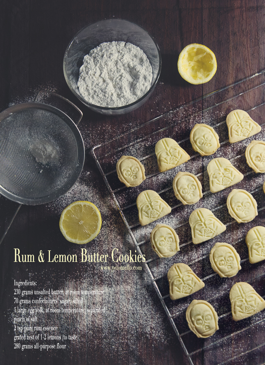 Rum & Lemon Butter Cookies Teaser B